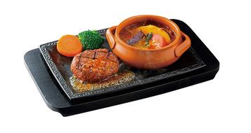 写真:ハンバーグと焼き野菜カレー(ソースなし)