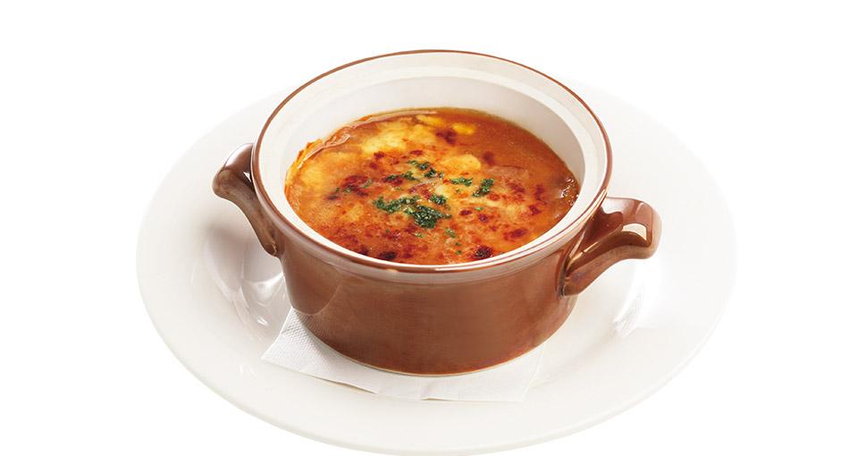 写真:オニオングラタンスープ
