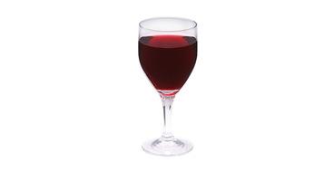 写真:グラスワイン赤