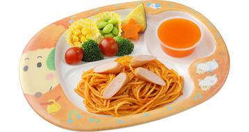 写真:おこさまスパゲティ(季節のゼリーつき)