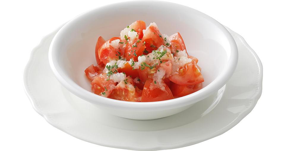 写真:トマトサラダ(玉ねぎドレッシング)