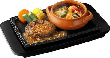 写真:ハンバーグと焼き野菜カレー(ソース無し、ライス・パン無し)