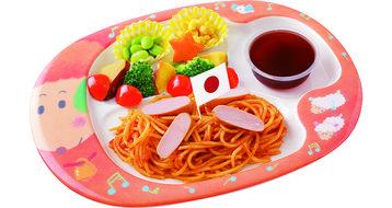 写真:おこさまスパゲティ(ぶどうゼリー付き)